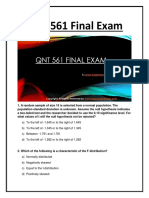 QNT 561 Final Exam Question With Answers
