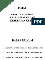P2K3 kesehatan kerja