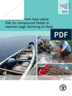 Transition from low-value fish to compound feeds in marine cage farming in Asia
