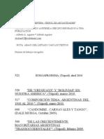 ARGENTINAS :CRISOL DE ARCAICIDADES ( TEMAS DE ETNOLOGIA, ETNOCULTURA, FOLKLORE Y CULTURA POPULAR
