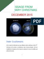 Mary Christmas 2015 Message.