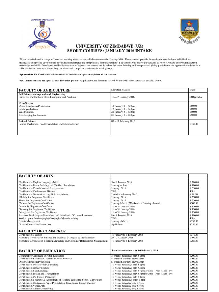 Short Courses 2016 Metallurgy Engineering