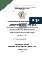 Perfil Proyecto e Informe Productivo Horno 2015-II de ALUMNOS
