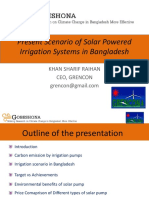 Present Scenario of Solar Powered Irrigation Systems in Bangladesh