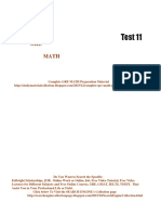 GRE Math Practice Test 11