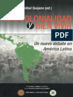 Descolonialidad y Bien Vivir,Anibal Quijano (Ed.))