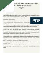Aspectos Cognitivos Do Processamento Textual