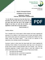 Islamic Oreinted Schools