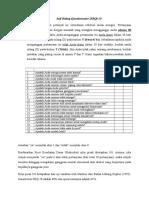 Self Rating Questionnaire (SRQ-20)