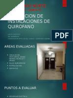 Evaluacion de Instalaciones de Quirofano