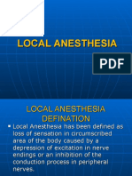 Local Anesthesia Introduction