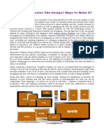 What is Responsive Site Design? Ways to Make It?.pdf