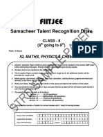 FIITJEE Paper for 9th Class