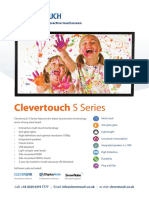 Clevertouch S-Series Spec Sheets 55-Inch New Spec