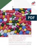Livre Blanc Comment Ameliorer La Securite Du Medicament