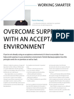 Overcome surprises with an acceptance environment