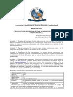 Reglamento Pre-concurso de Derecho Procesal Constitucional Bogotá Octubre 28 y 29 de 2015