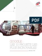 Livre Blanc Google Les 10 Projets Les Plus Incroyables