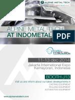 Alpine Metal Tech_Indometal 2014_Invitation Letter