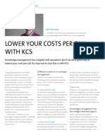 Lower your costs per call with KCS
