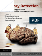 Memory Detection - Theory and Application of the Concealed Information Test