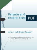 36- Parenteral & Enteral Feeding