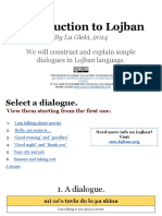 Lojban. How to Quickly Create Sentences
