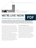We're live! Now what? The importance of good functional management