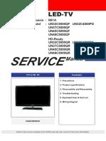 9619 Samsung UN32!37!40-46C5000QF VN32C4000PD Chassis N91A Televisor LED Manual de Servicio