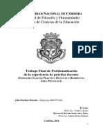 Morales, Aldo Esteban - Trabajo Final de Problematización de la experiencia de práctica docente