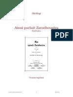 Nietzsche - zarathoustra extraits