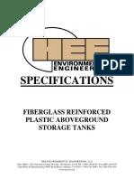 Vertical FRP Tank Spec 11 06