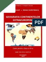 Geografia continentelor extraeuropene. Caiet pentru clasa a VII-a. I. Marculet, M. Dumitrescu.pdf