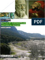 The Battle of Thermopylae Historical/Geological Report