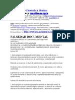 Falsedad de Documentos INVESTIGACION
