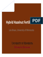 Fertilizing Hazelnuts