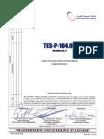 Cable Instl'n, Eng'g. Reqrmt's. TES P 104 05 R0