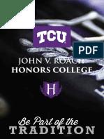 2016 John V. Roach Honors College Viewbook