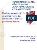 Predimensionamiento de Columnas Y Vigas Por Solicitaciones Sísmicas - Ing. Juan Manuel Alfaro Rodriguez (ACI-USP)