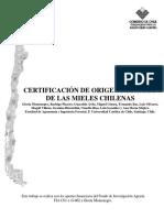 Certificacion Origen Botanico Mieles Chilenas