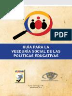 GUÍA PARA LA VEEDURÍA SOCIAL DE LAS POLÍTICAS EDUCATIVAS