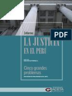 """Informe """"La Justicia en el Perú"""