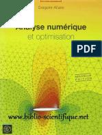 Analyse Numérique Et Optimisation - Une Introduction à La Modélisation Mathématique Et à La Simulation Numérique