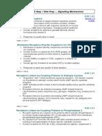 Pharm 1- Signalling Mechanism