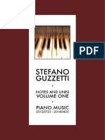 Stefano Guzzetti. Notes and Lines. Volume One. Piano Music 20120723-20140425