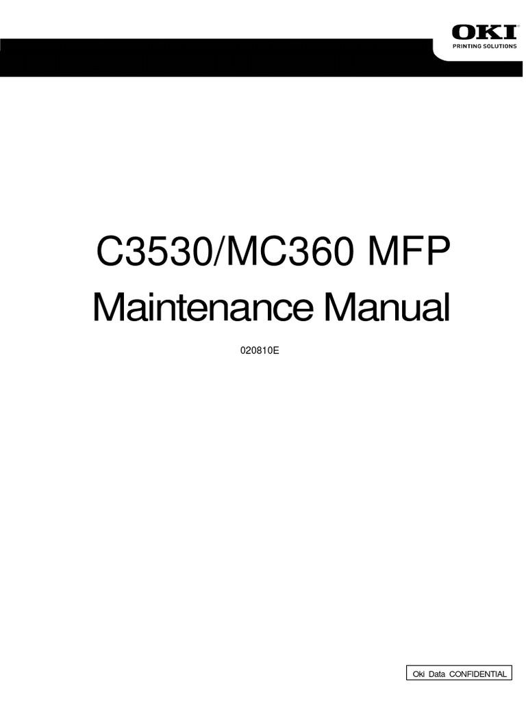 C3530/MC360 MFP: Maintenance