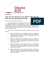 Alabama A&M trustee nomination letter