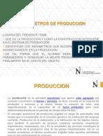 PARAMETROS DE PRODUCCION