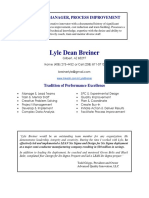 Director Manager Process Improvement In Greater Phoenix AZ Resume Lyle Breiner