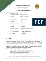 Silabo Métodos Numéricos 2015-II